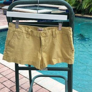Gently Loved Mossimo Yellow Shorts.  Size 6